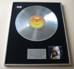 BRUCE SPRINGSTEEN - The Wild, The Innocent & the E Street Shuffle PLATINUM LP PRESENTATION DISC